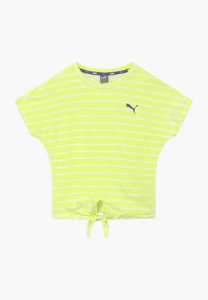 ALPHA STRIPED TEE - Triko s potiskem - sunny lime