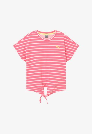 ALPHA STRIPED TEE - Triko s potiskem - bubblegum