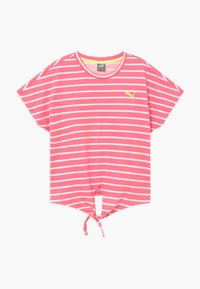Puma - ALPHA STRIPED TEE - T-shirt con stampa - bubblegum - 0