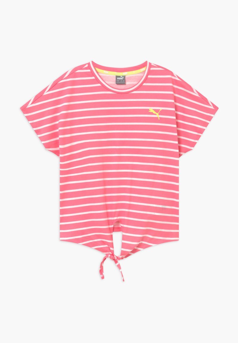 Puma - ALPHA STRIPED TEE - T-shirt con stampa - bubblegum