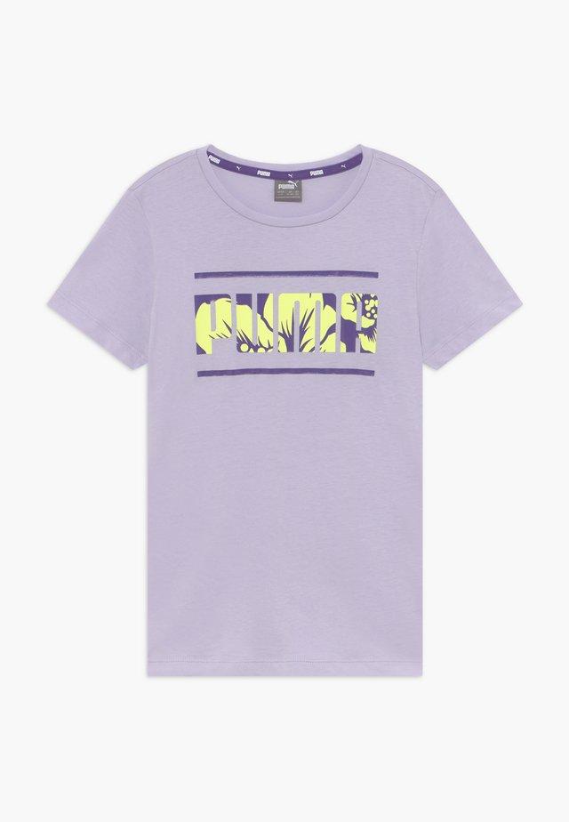 ALPHA TEE  - T-shirt imprimé - purple heather