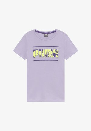 ALPHA TEE  - Print T-shirt - purple heather