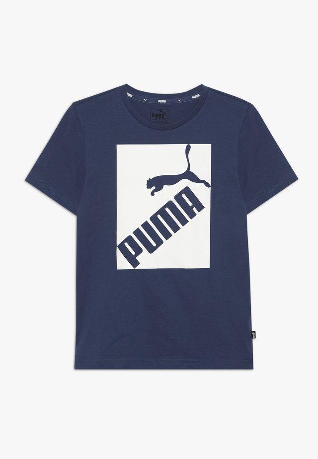 BIG LOGO TEE - T-shirt con stampa - dark denim