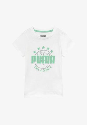 TIME FOR CHANGE TEE - Print T-shirt - white