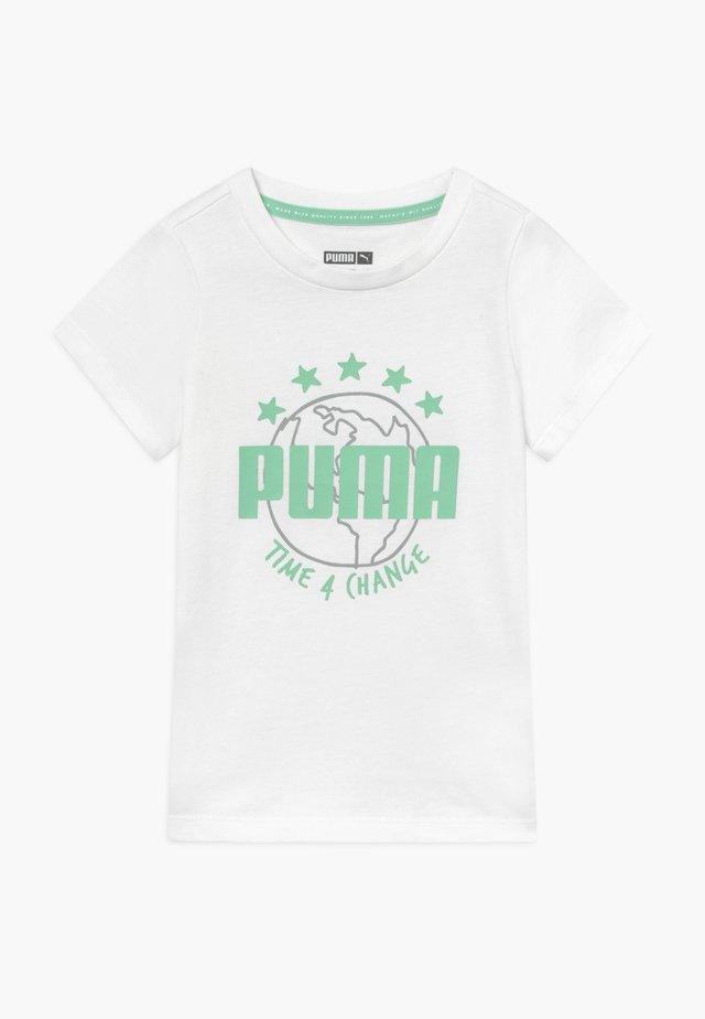 TIME FOR CHANGE TEE - Triko s potiskem - white