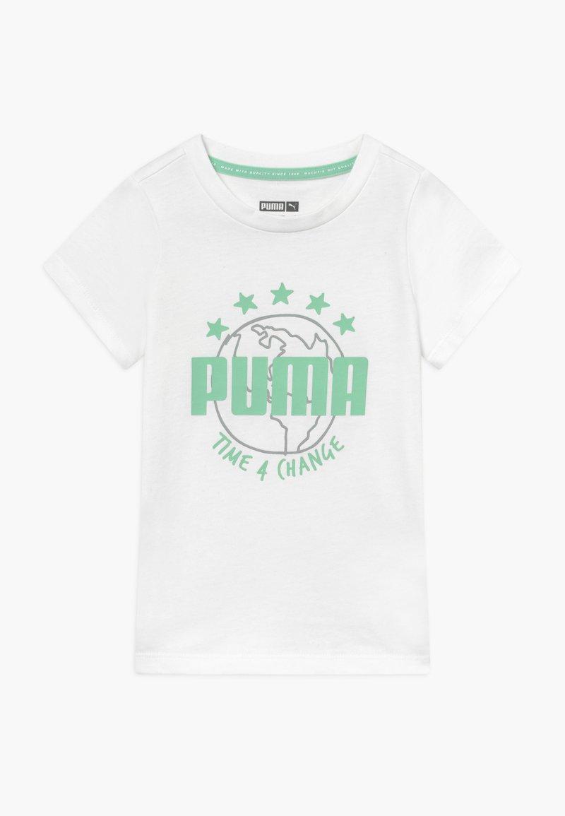 Puma - TIME FOR CHANGE TEE - Camiseta estampada - white