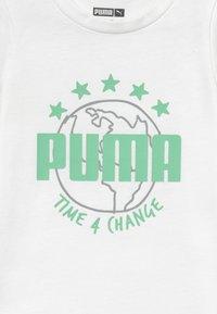 Puma - TIME FOR CHANGE TEE - Camiseta estampada - white - 3