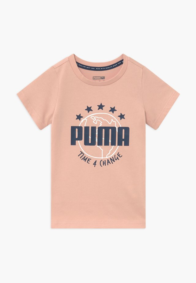 TIME FOR CHANGE TEE - T-shirt imprimé - pink sand
