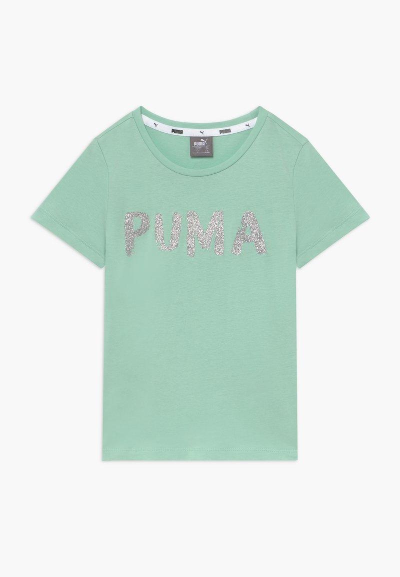 Puma - ALPHA TEE G - Triko spotiskem - mist green