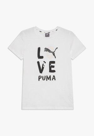 ALPHA TEE G - Triko spotiskem - puma white/puma black
