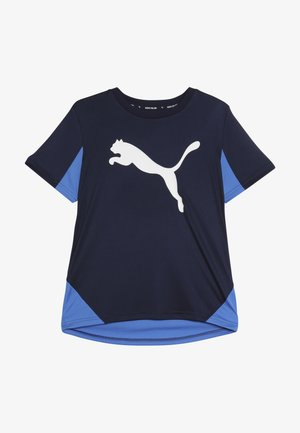 ACTIVE SPORTS CAT GRAPHIC TEE - Funkční triko - peacoat