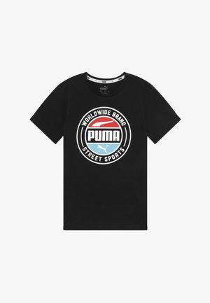 ALPHA SUMMER TEE - T-Shirt print - black