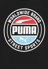 Puma - ALPHA SUMMER TEE - Triko spotiskem - black - 3