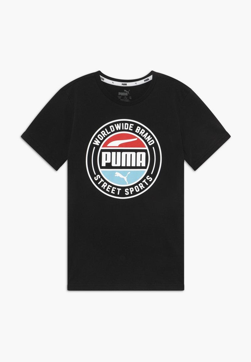 Puma - ALPHA SUMMER TEE - Triko spotiskem - black