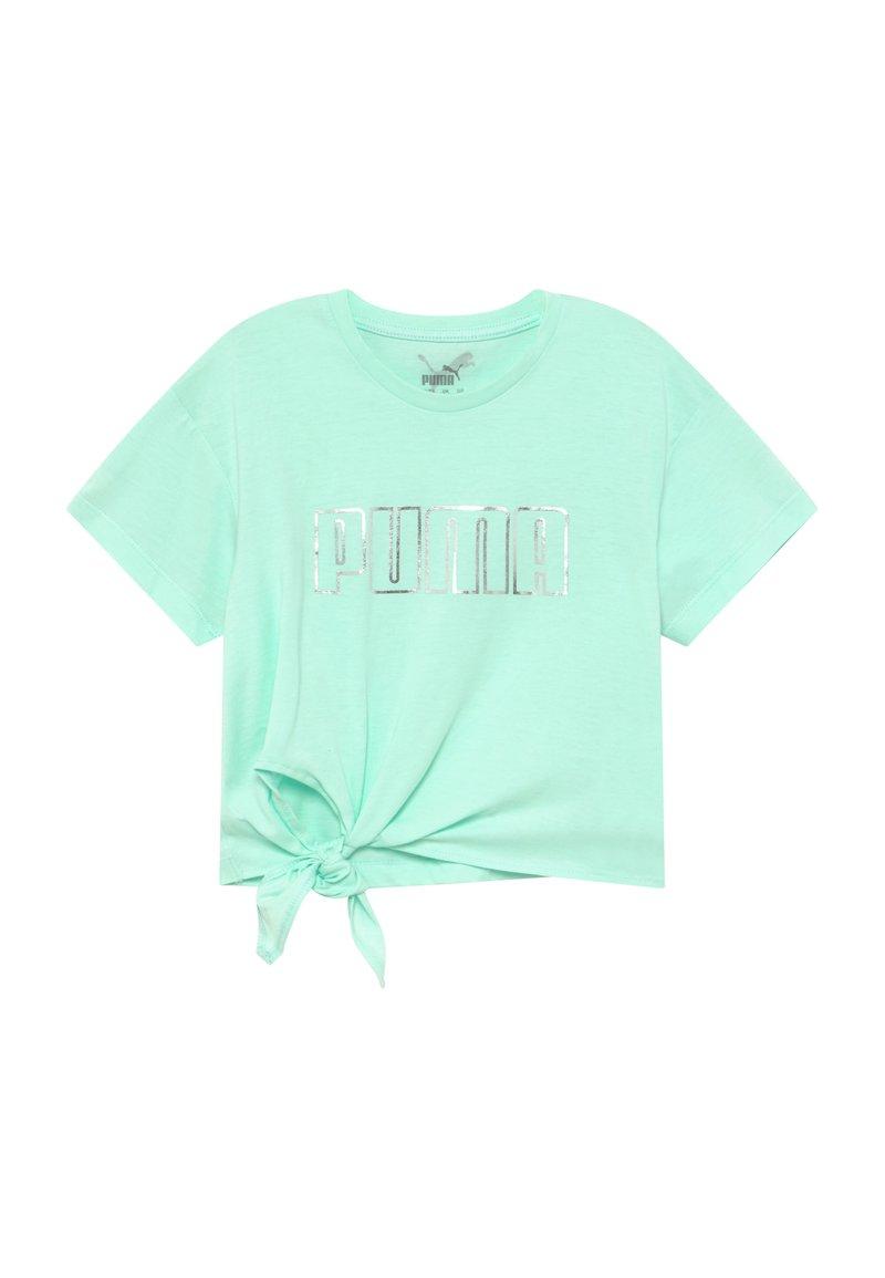 Puma - METALLIC SPLASH GIRLS TEE - Print T-shirt - mint