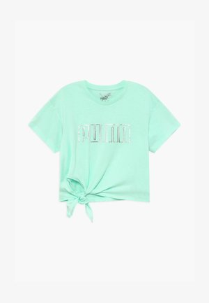 METALLIC SPLASH GIRLS TEE - Print T-shirt - mint