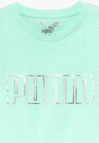 Puma - METALLIC SPLASH GIRLS TEE - T-shirt con stampa - mint - 3