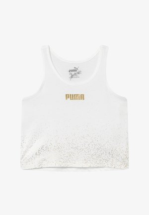 PUMA X ZALANDO METALLIC SPLASH GIRLS - Sportshirt - white