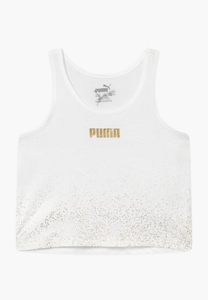 PUMA X ZALANDO METALLIC SPLASH GIRLS - T-shirt sportiva - white