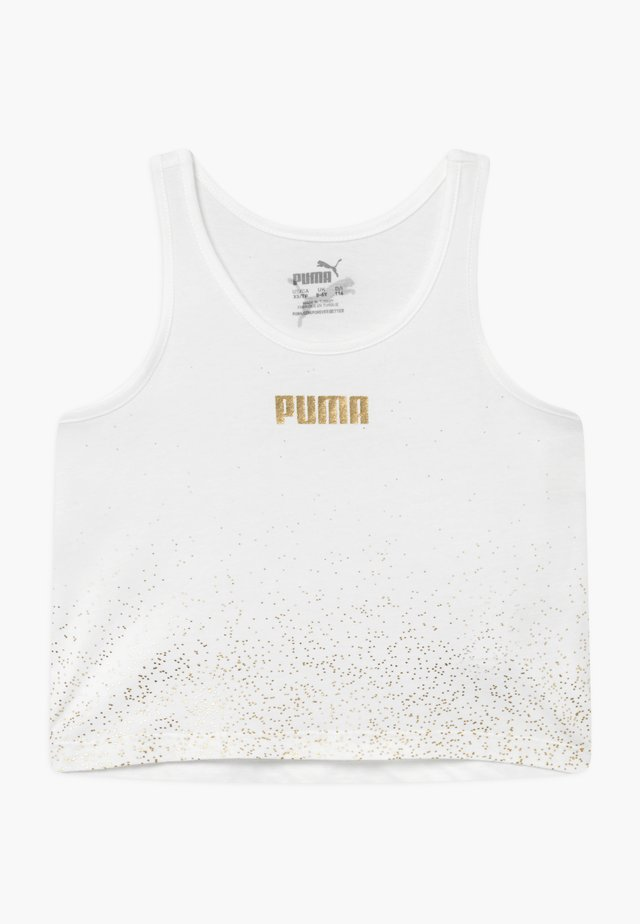 PUMA X ZALANDO METALLIC SPLASH GIRLS - Funkční triko - white