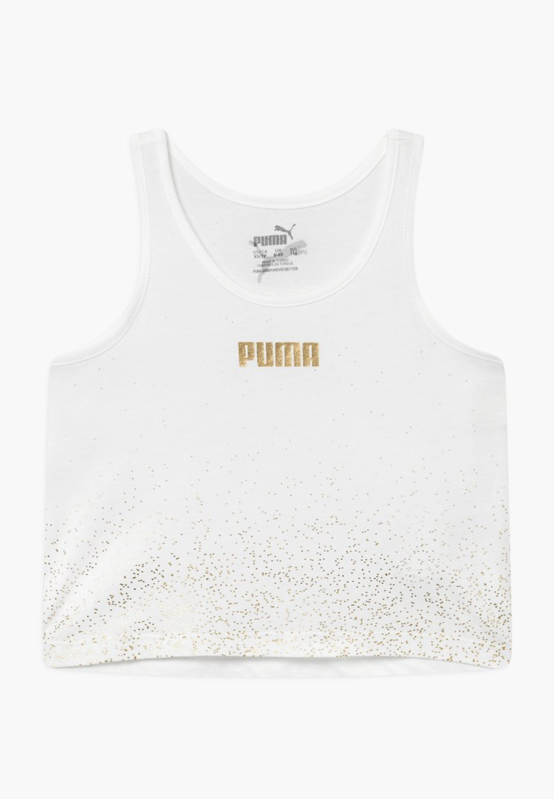 Puma - PUMA X ZALANDO METALLIC SPLASH GIRLS - Koszulka sportowa - white