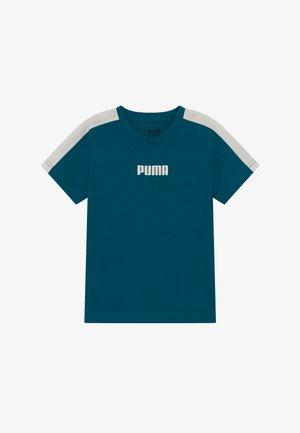 PUMA X ZALANDO LOGO TEE - T-Shirt print - morrocan blue