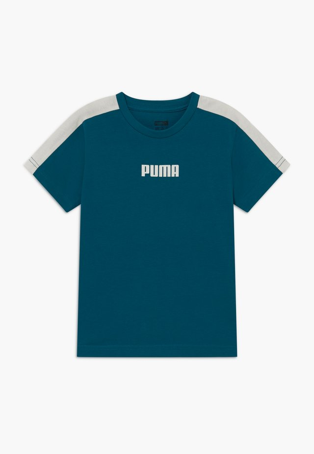 PUMA X ZALANDO LOGO TEE - T-shirt imprimé - morrocan blue