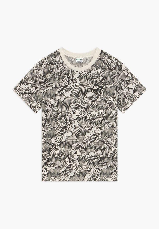 PUMA X ZALANDO TEE - Camiseta estampada - silver birch