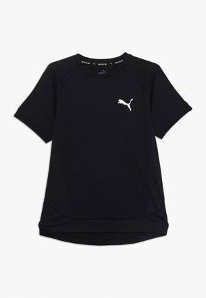 EVOSTRIPE TEE - Print T-shirt - black