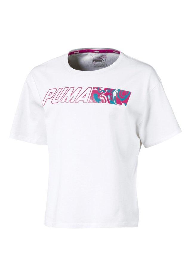 ALPHA - T-Shirt print - puma white