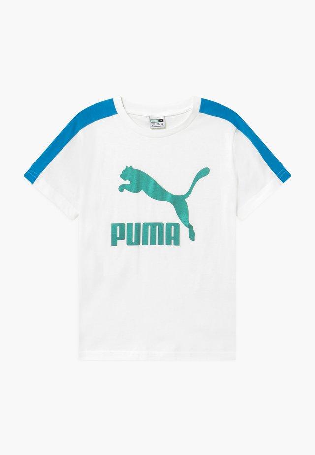PUMA X ZALANDO TEE - Camiseta estampada - white