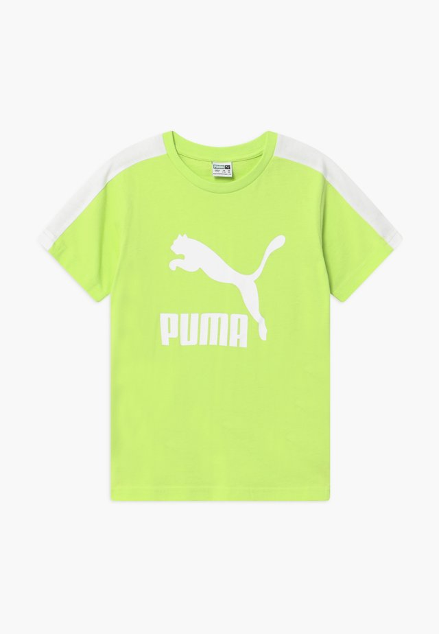 PUMA X ZALANDO TEE - Camiseta estampada - sharp green
