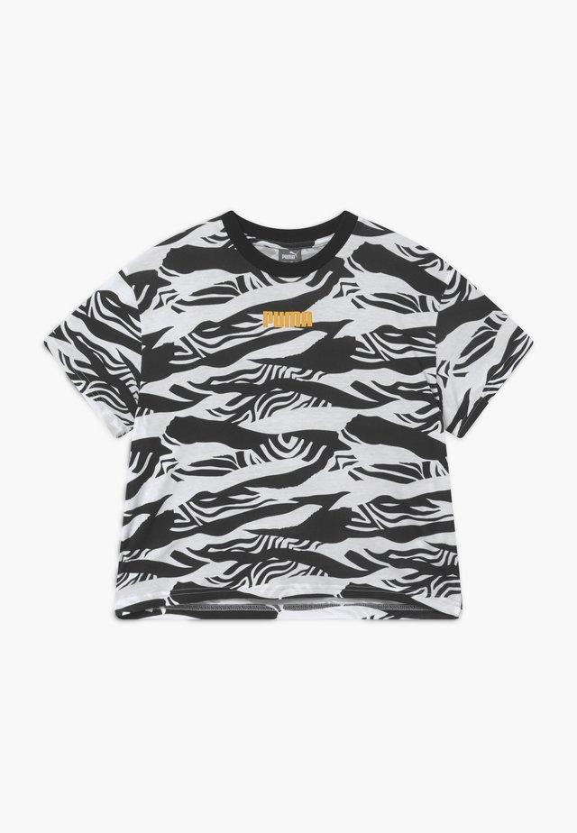 PUMA X ZALANDO GIRLS TEE - Camiseta estampada - black