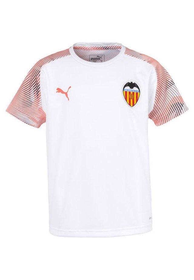 Print T-shirt - puma white-fizzy orange