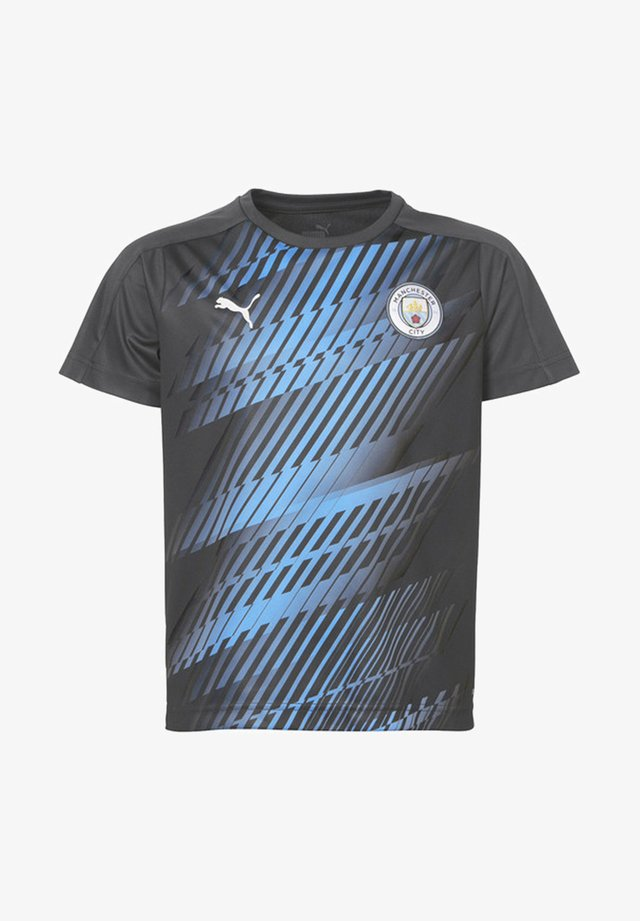 MAN CITY - T-shirt print - asphalt-team light blue