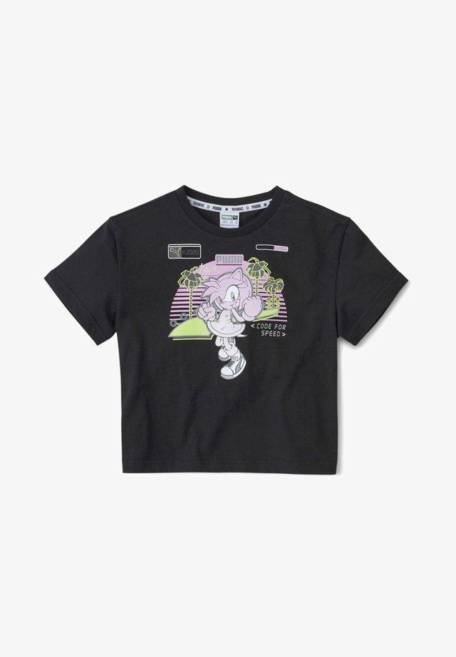 X SEGA KIDS' MEISJE - Print T-shirt - black