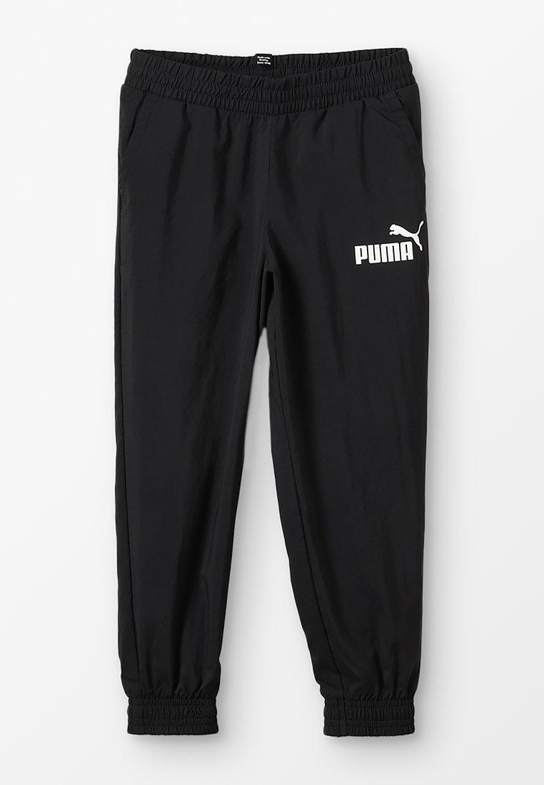 Puma - LOGO PANTS - Tracksuit bottoms - black
