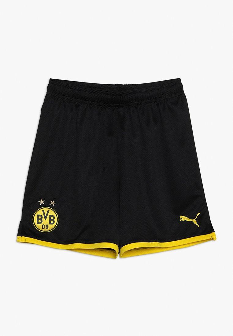 Puma - BVB BORUSSIA DORTMUND SHORTS REPLICA - Short de sport - black/cyber yellow