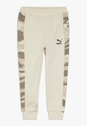 PUMA X ZALANDO TAPERED PANTS - Tracksuit bottoms - white swan