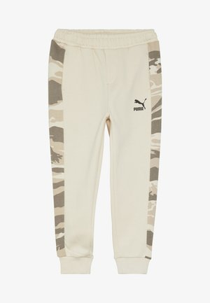 PUMA X ZALANDO TAPERED PANTS - Tracksuit bottoms - white swan