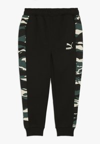 Puma - PUMA X ZALANDO TAPERED PANTS - Trainingsbroek - black - 0