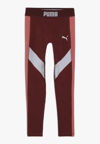 Puma - PUMA X ZALANDO LEGGINGS - Legging - burnt russet/shell pink/white - 0