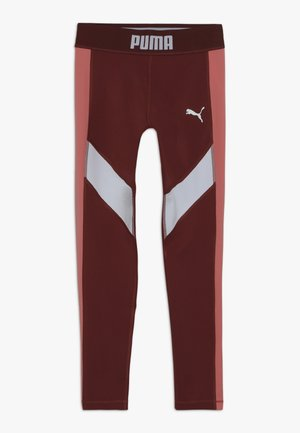 PUMA X ZALANDO LEGGINGS - Legging - burnt russet/shell pink/white