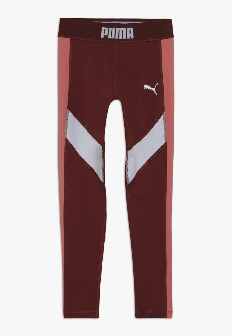 Puma - PUMA X ZALANDO LEGGINGS - Legging - burnt russet/shell pink/white