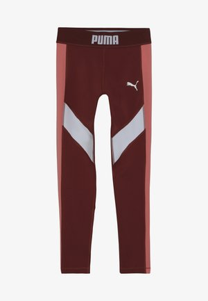 PUMA X ZALANDO LEGGINGS - Legginsy - burnt russet/shell pink/white