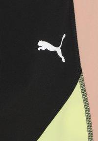 Puma - PUMA X ZALANDO LEGGINGS - Leggings - black/peach beige/yellow allert - 3