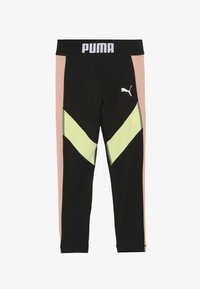 Puma - PUMA X ZALANDO LEGGINGS - Leggings - black/peach beige/yellow allert - 2