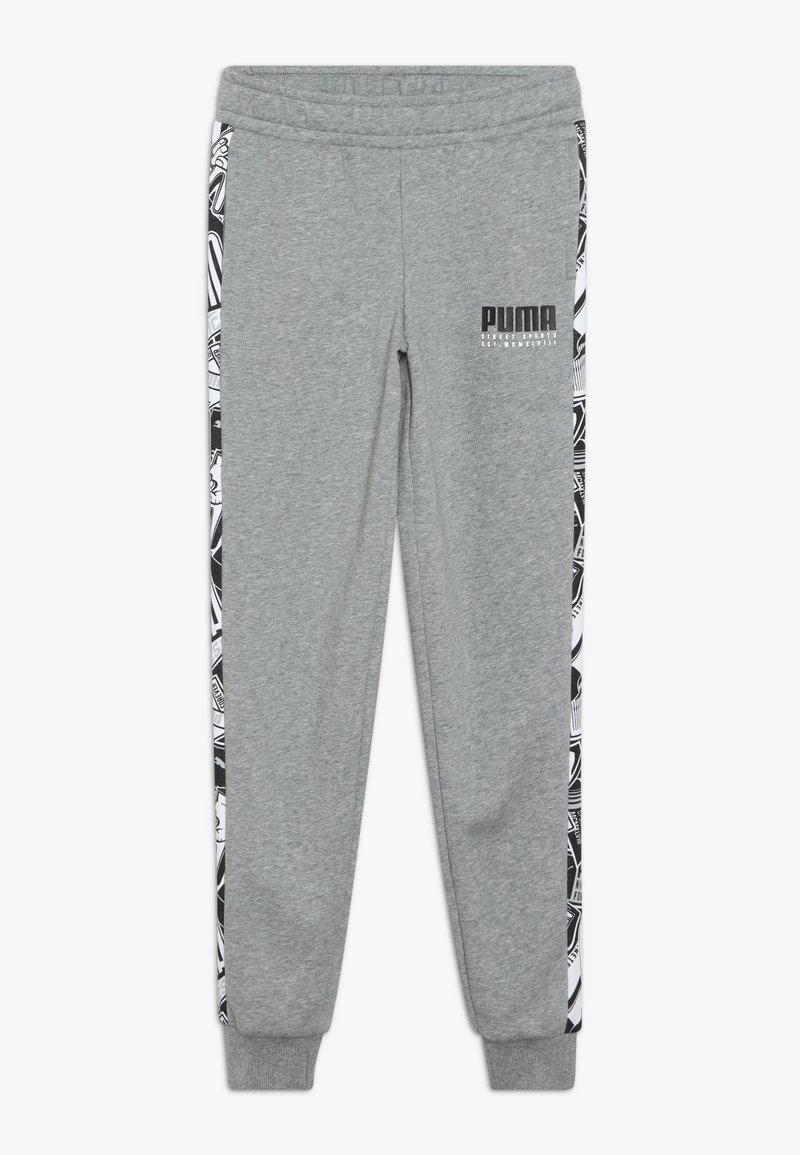 Puma - ALPHA PANTS - Pantalon de survêtement - medium gray heather