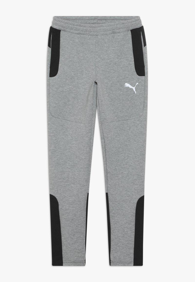 Puma - EVOSTRIPE PANTS - Pantalon de survêtement - medium gray heather