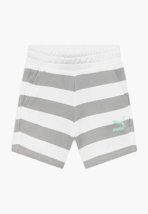 TIME FOR CHANGE SHORTS - Sportovní kraťasy - light grey/white